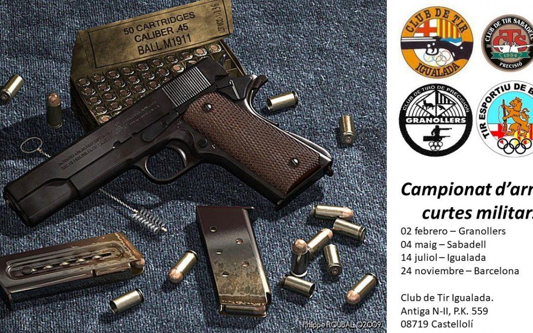14/07/2019 – Campionst d'armes curtes militars.